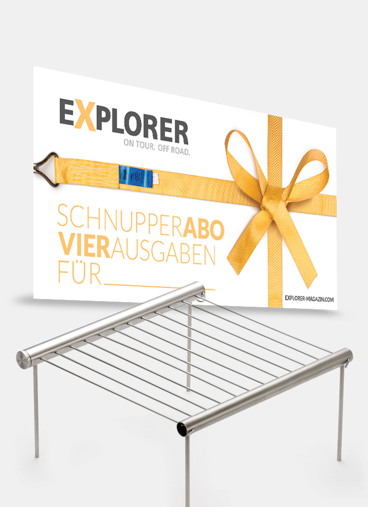 geschenkabo mit pocket grill explorer magazin. Black Bedroom Furniture Sets. Home Design Ideas