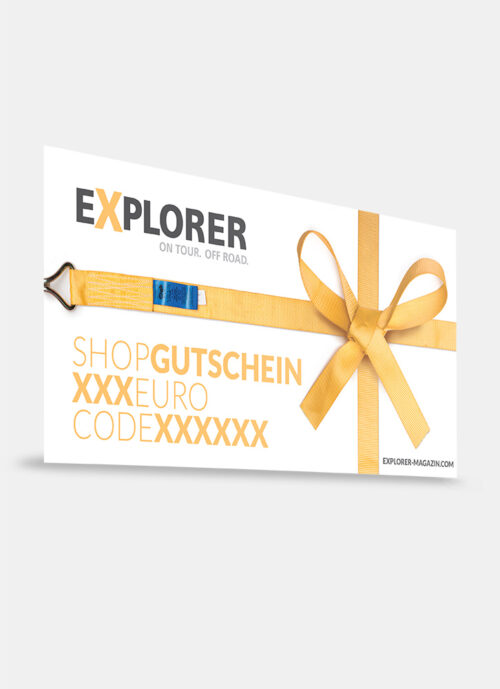 EXPLORER Shop Wertgutschein Muster