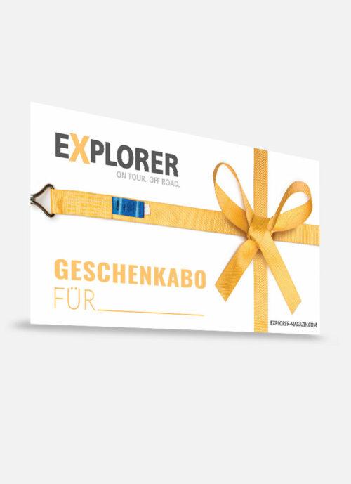 Geschenkabo Gutschein EXPLORER Magazin