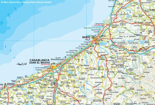 Marokko Landkarte Ausschnitt