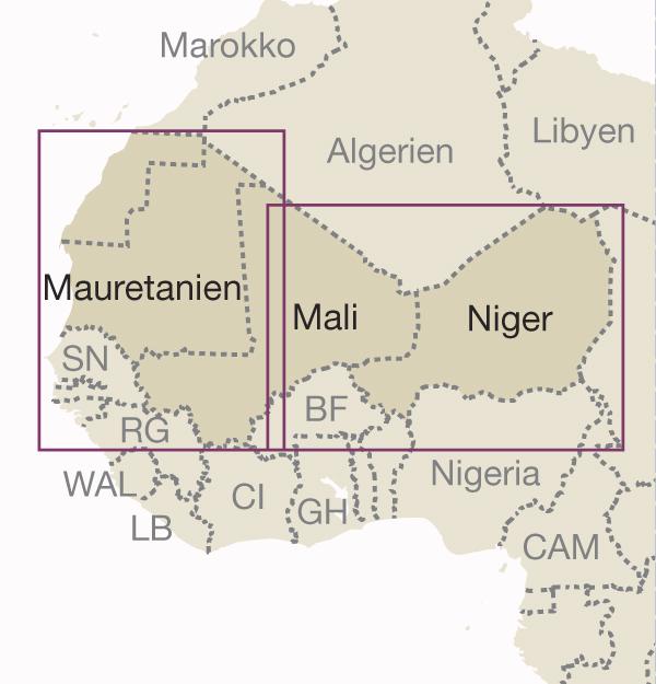 Blattschnitt Westafrika Sahel