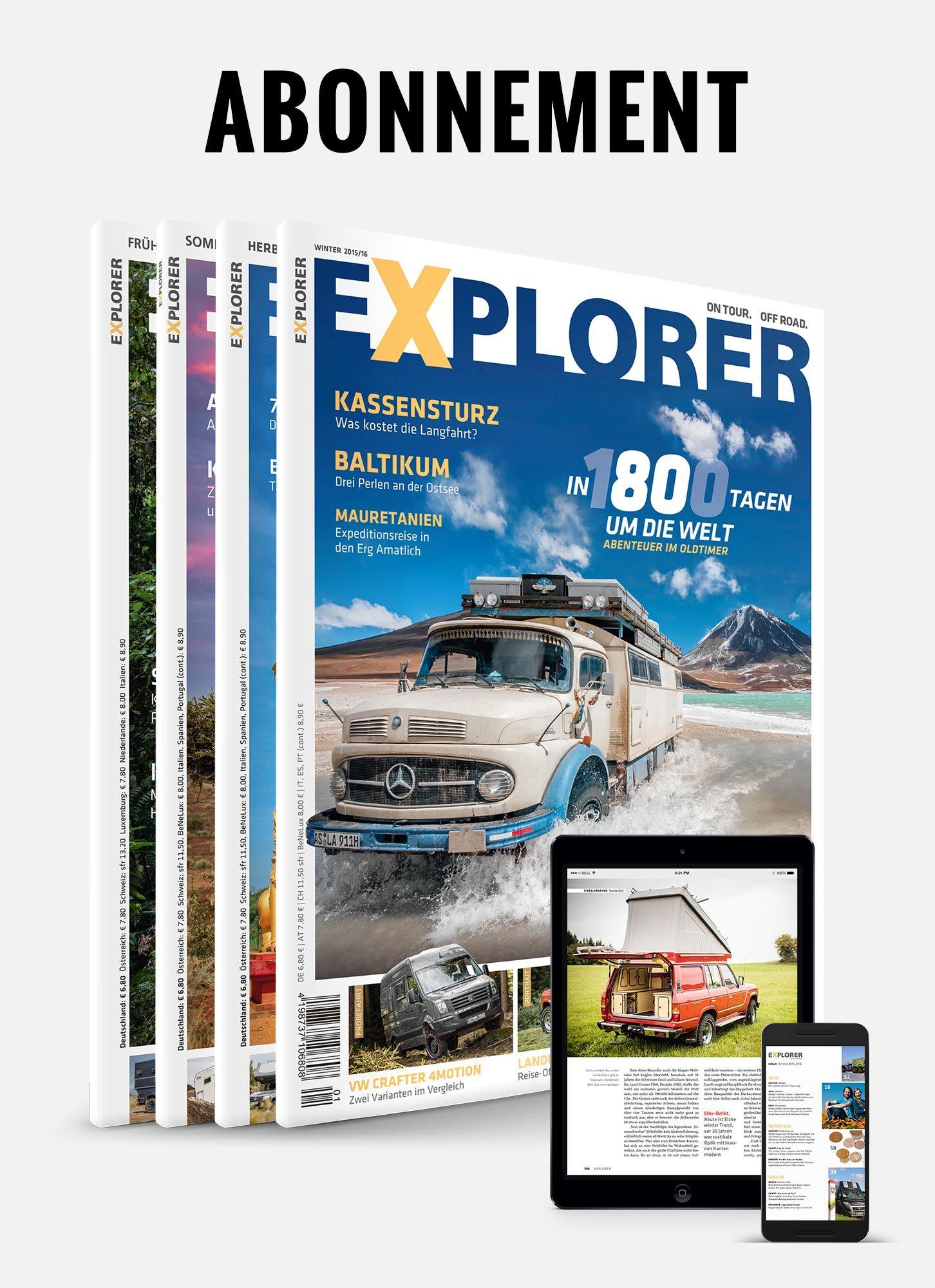 EXPLORER Magazin Abo