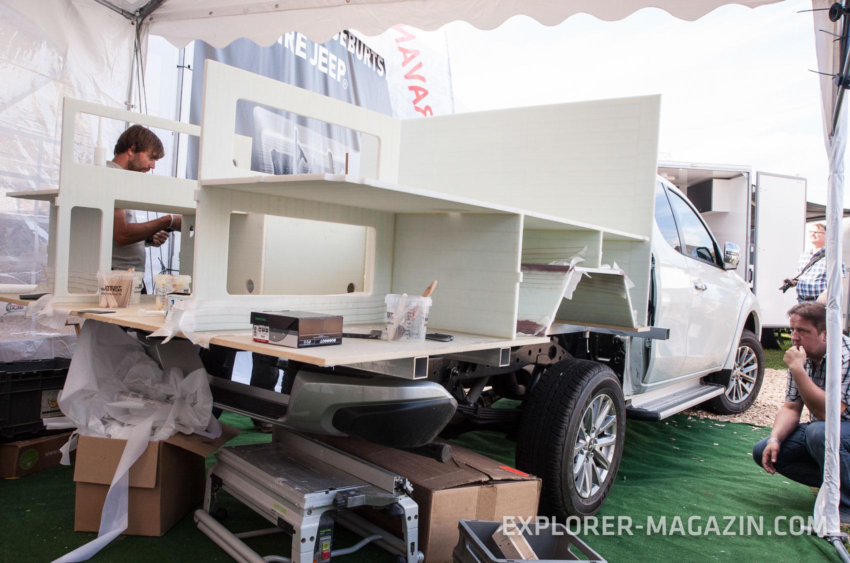 pickup kabine selbst bauen ursa minor ein projekt des explorer. Black Bedroom Furniture Sets. Home Design Ideas