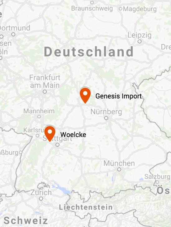 Woelcke und Genesis Import sind unter neuer Adresse erreichbar