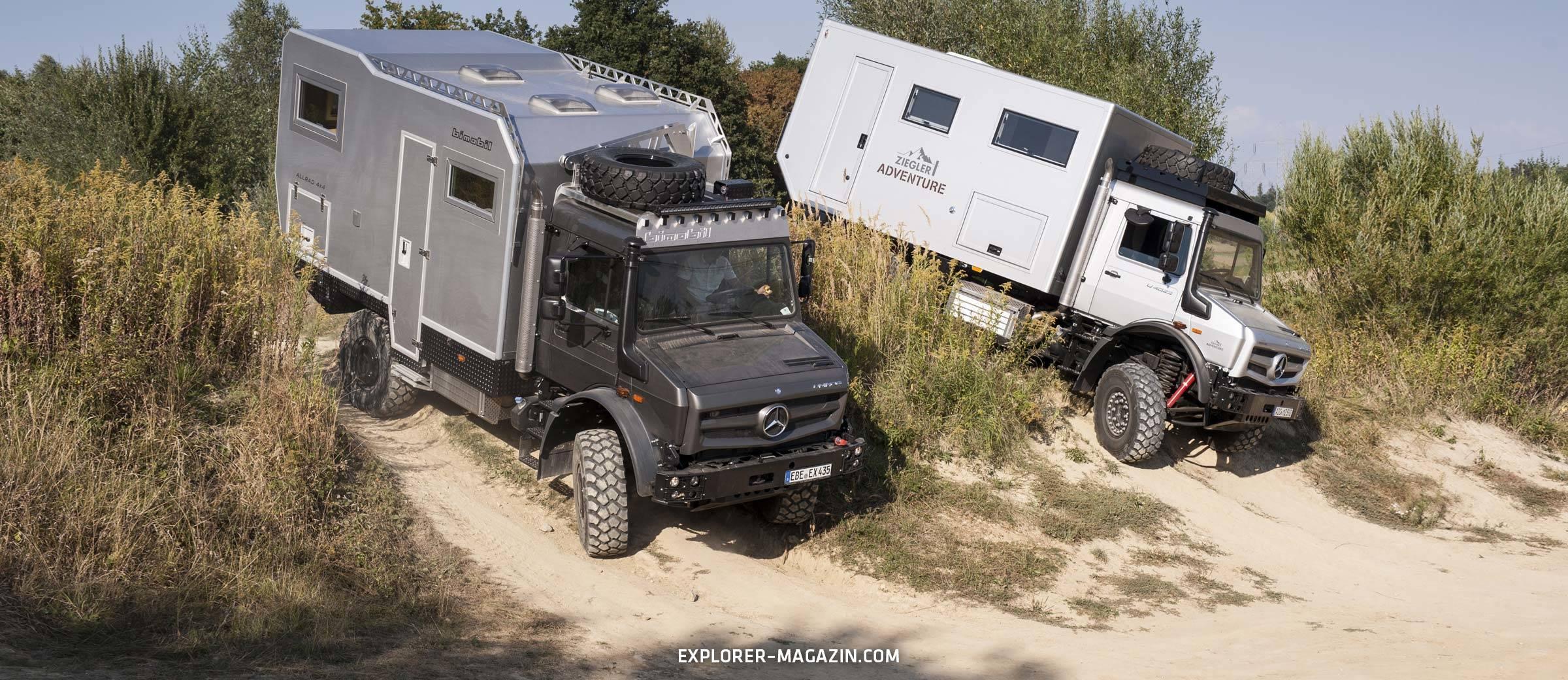 Unimog Vergleichstest - Ziegler Moghome gegen Bimobil EX435