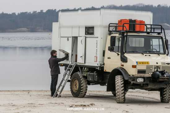 Hubdachkabine auf Unimog von Bliss Mobil – Expeditionsfahrzeug