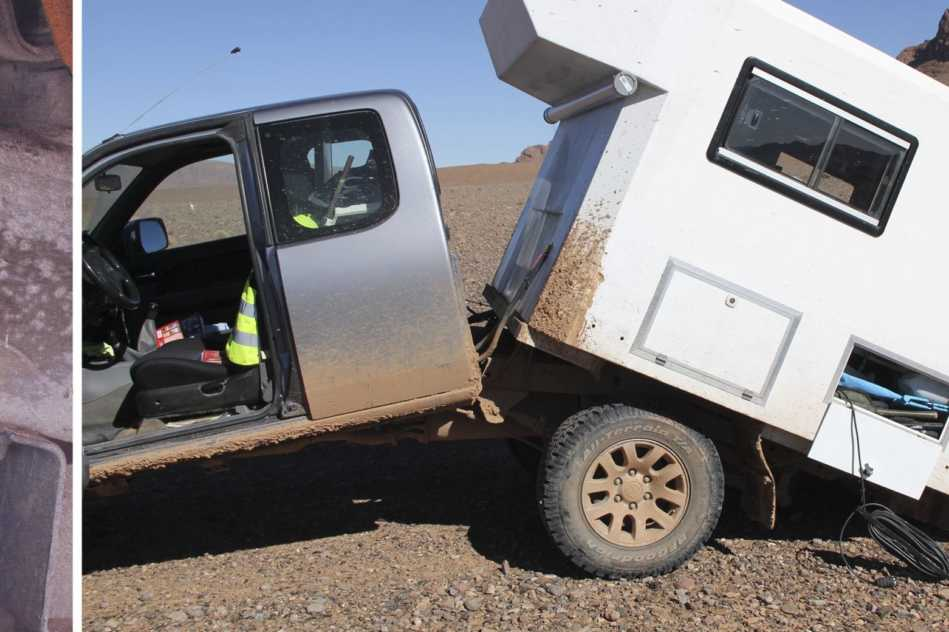 Rahmenbruch Pickup auf Reise
