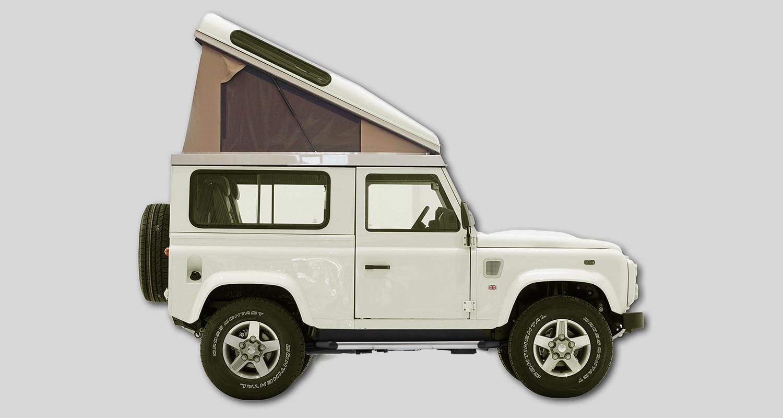 Hubdach Land Rover Defender 90 Offroad-Hesch