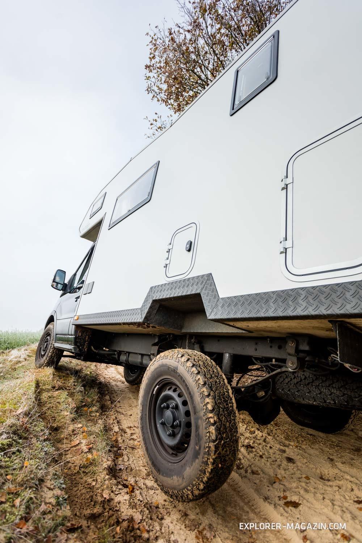 Mercedes Sprinter 4x4 >> Probefahrt Ford Transit 4x4 Wohnmobil von Batari/Extrem
