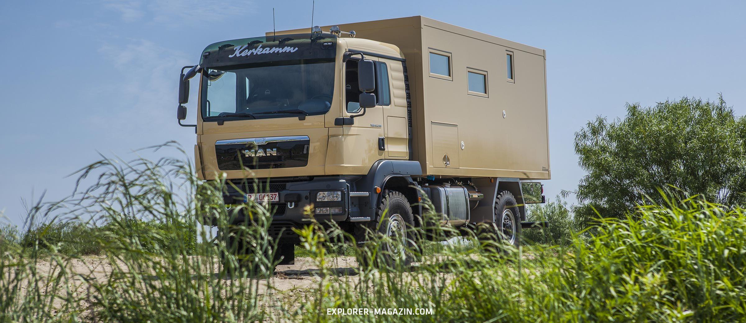 Kerkamm EX525 – MAN TGM 13.290 Probefahrt - EXPLORER Magazin