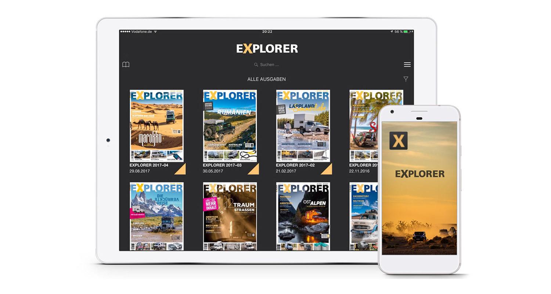 Neue EXPLORER App