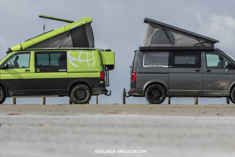 VW T6 4Motion Allrad Campingbus Vergleichstest