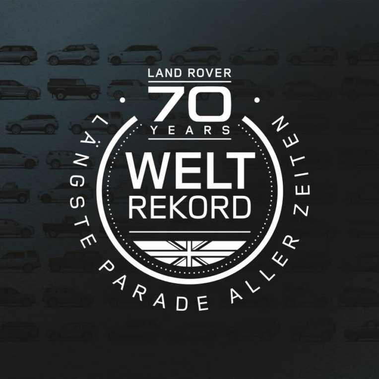 Land Rover feiert 70. Geburtstag mit Guinness Weltrekordversuch