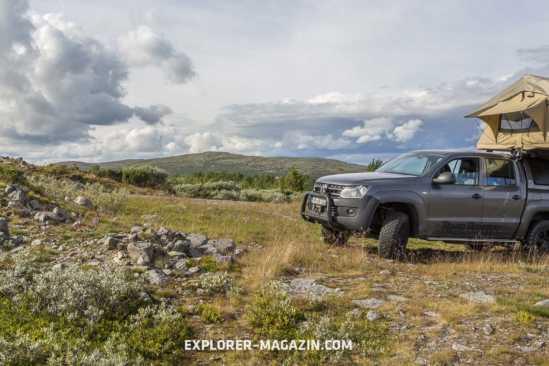 Norwegen mit Pickup und Dachzelt offroad entdecken