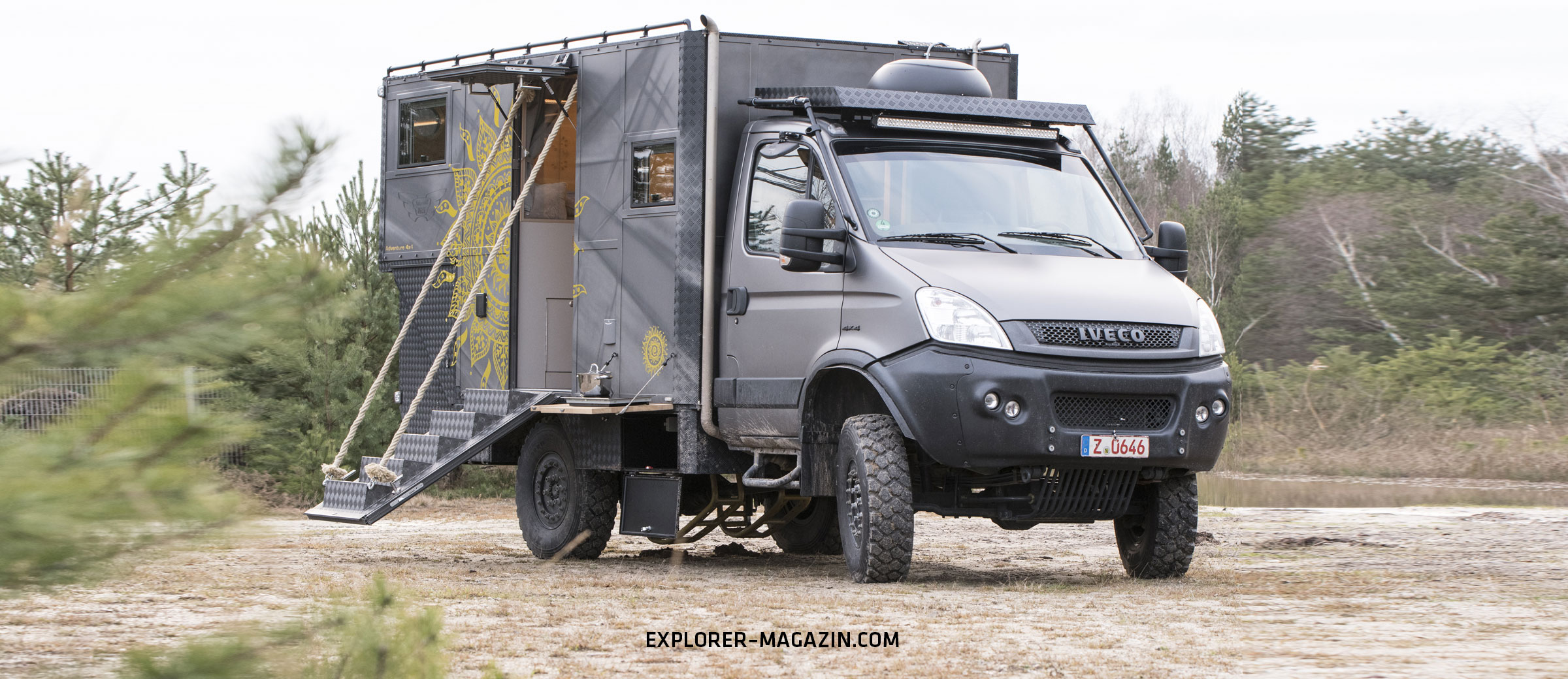 Die Offroad-Harley - Iveco Daily 10x10 in Mad-Max Optik  EXPLORER