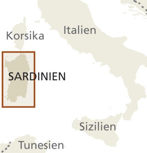 Sardinien Landkarte