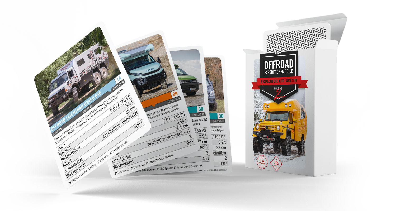 Geländewagen Quartett Kartenspiel Offroad