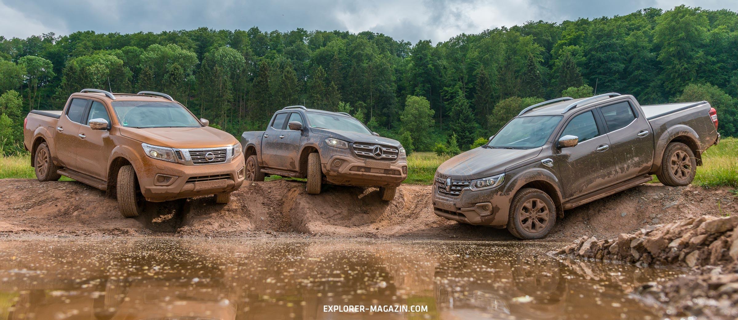 Pickuptest – Nissan Navara gegen Renault Alaskan und Mercedes X-Klasse