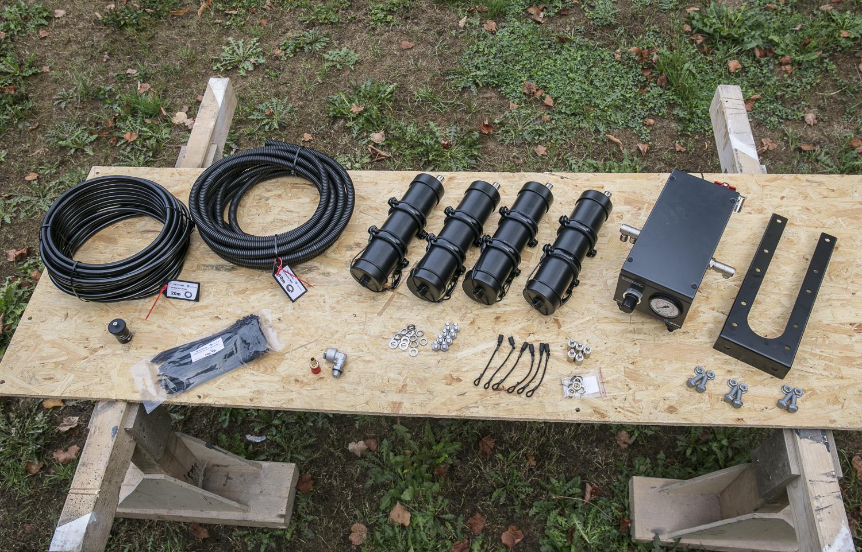 Material zum Einbau der Reifendruck-Regelanlage