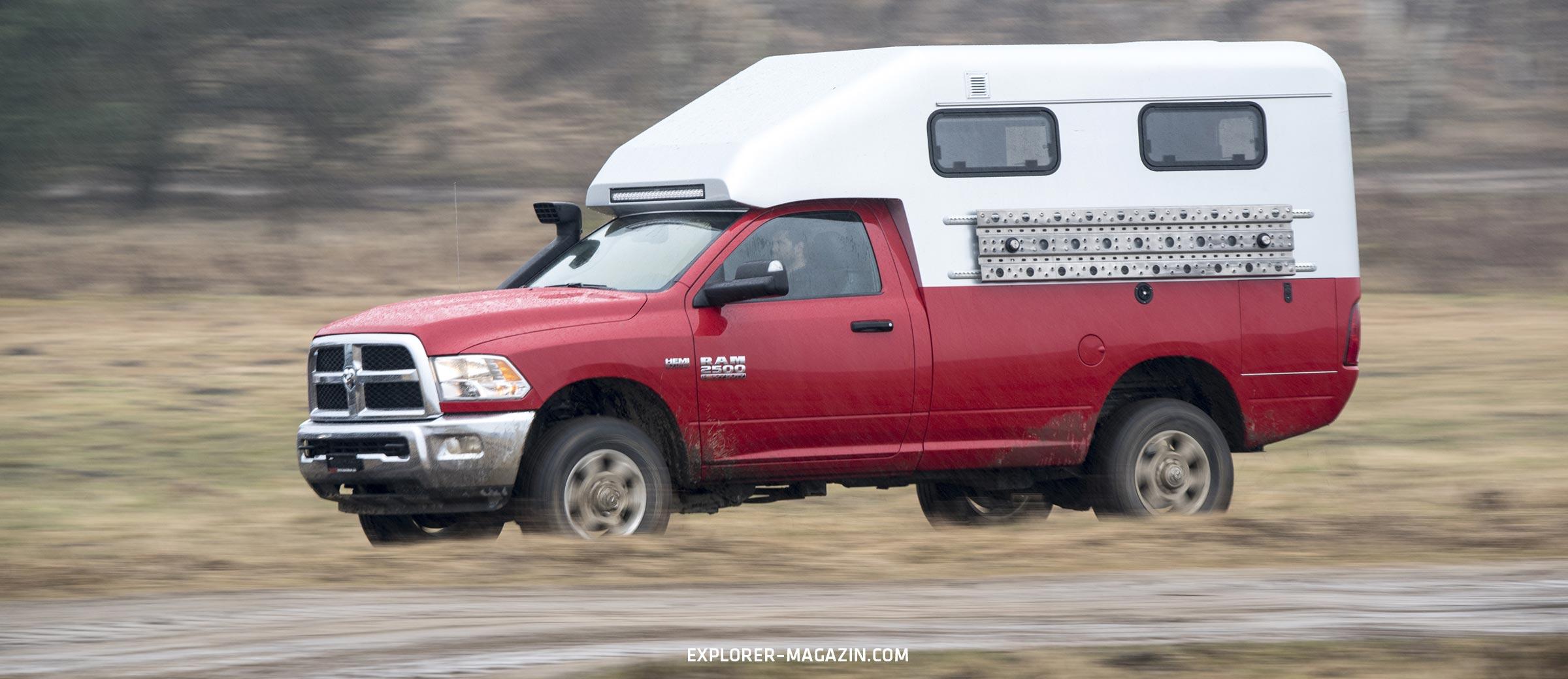 Dodge RAM 2500 Offroad Camper aus Carbon - Leichtbau Manufaktur