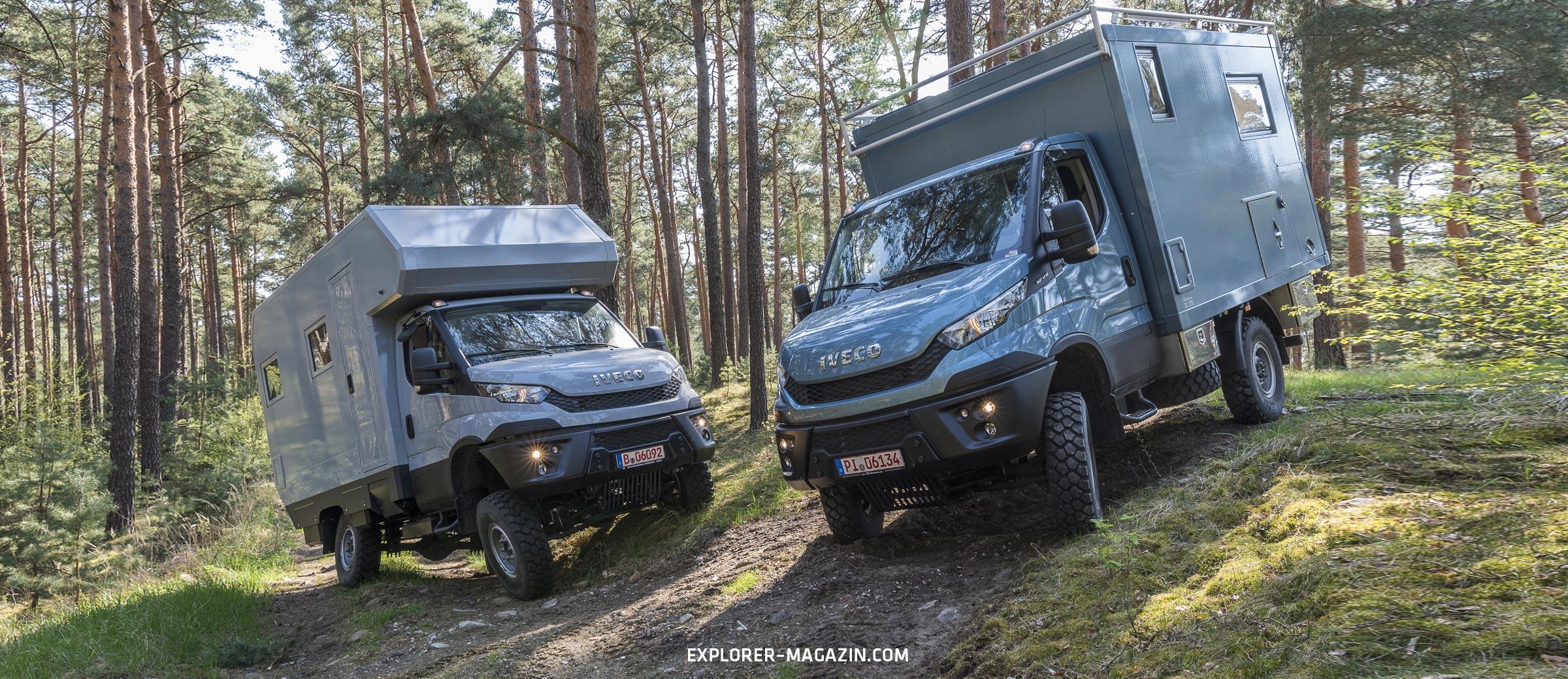 Kompakt & Klasse: Iveco Daily Allrad-Wohnmobil im Vergleichstest