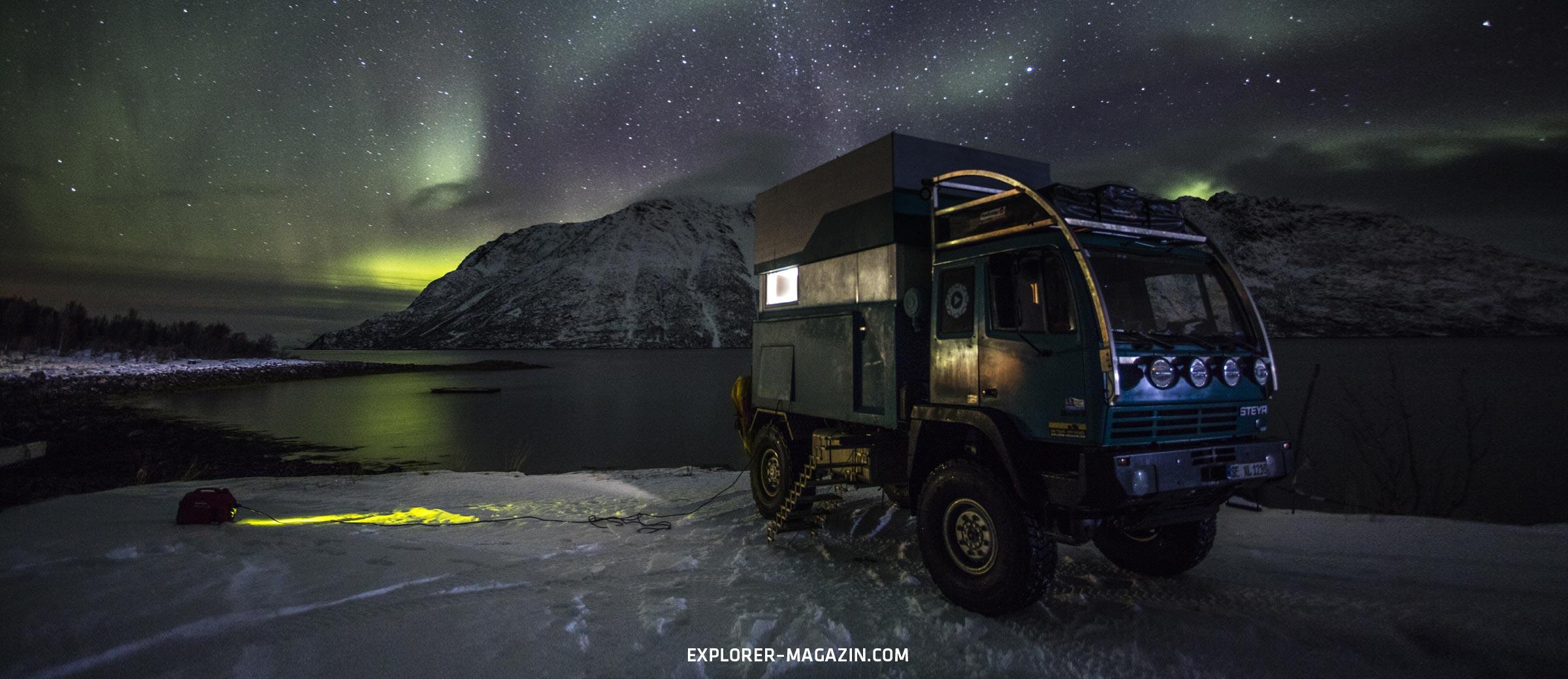 Norwegen Polarkreis im Winter offroad entdecken