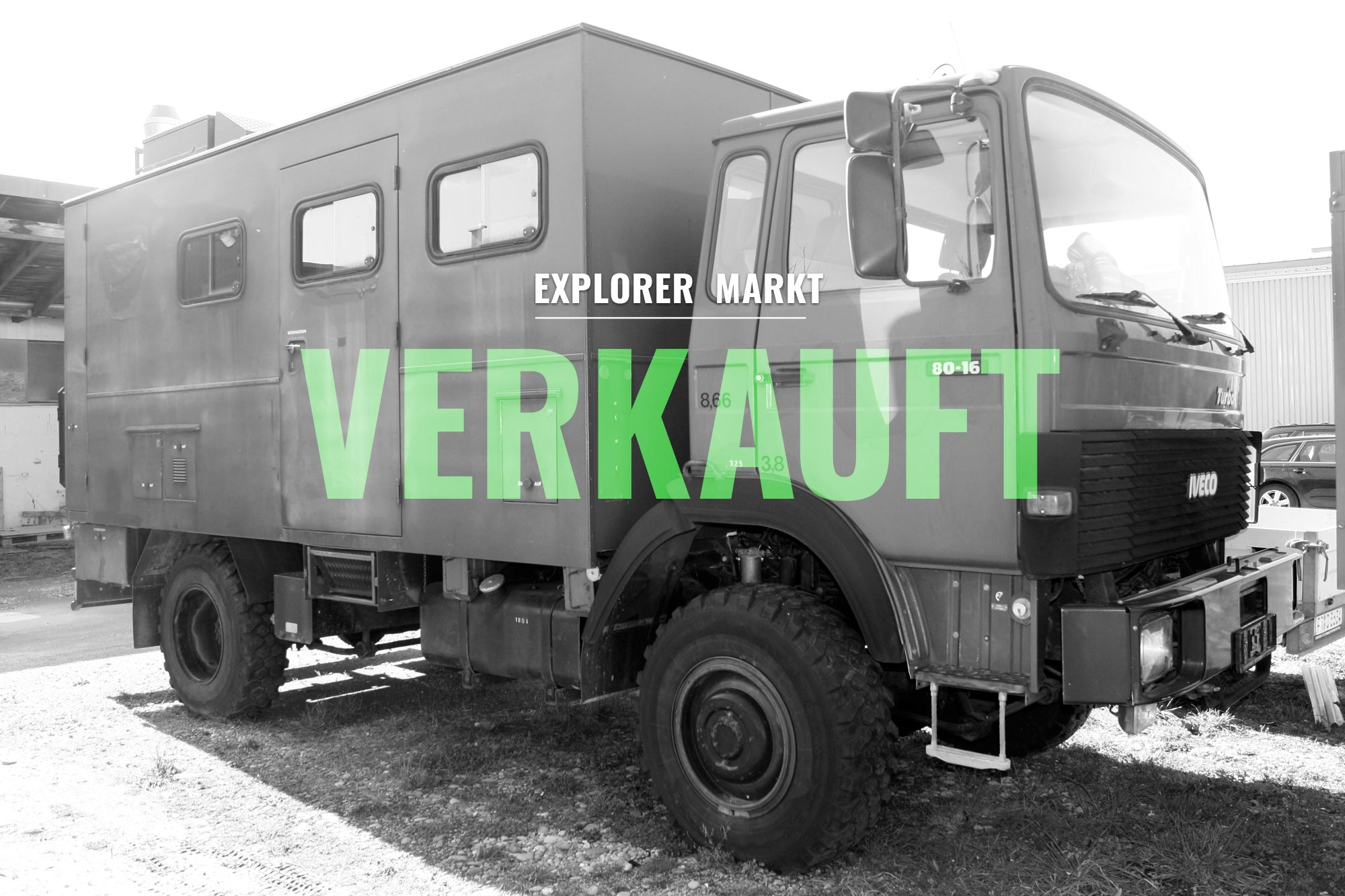 verkauft iveco magirus 80 16 aw 4x4 diesel 7 5 t. Black Bedroom Furniture Sets. Home Design Ideas
