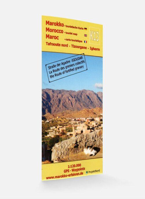 K13: Tafraoute nord - Tizourgane - Igherm 1:120.000 GPS - Waypoints: Marokko - Straße der Agadire / IGOUDAR