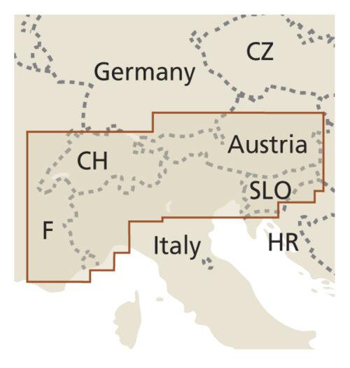 Alpen Landkarte Reise Know-How 978-3-8317-7400-5