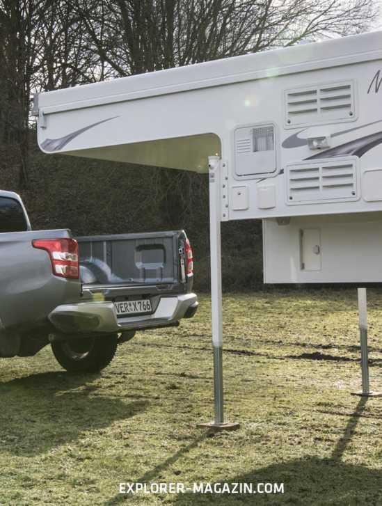 Pickup-Kabine absetzen Schrit-für-Schritt