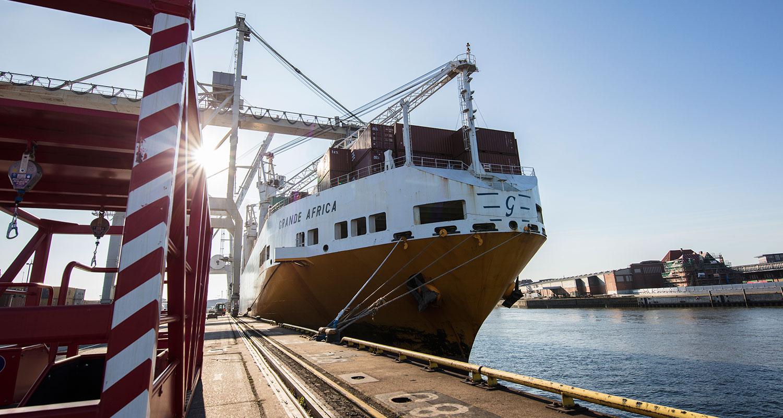 Grimaldi Grande Africa Verschiffung Restriktionen