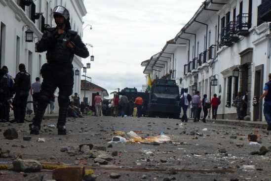 Straßensperre Kolumbien