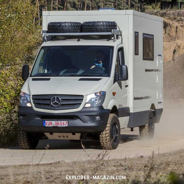 Mercedes-Benz Sprinter Allrad Wohnmobil von HRZ im Test