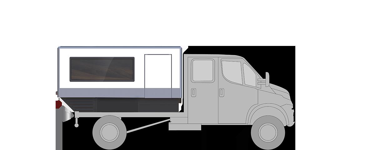 ICS-Trailer auf Transporter