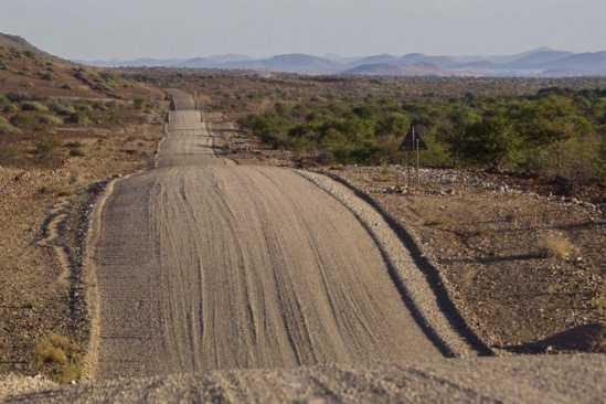 Namibia Straße Steppe