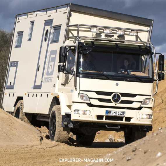 Mercedes-Benz Atego Offroad Wohnmobil - Emmert Globe 6000 Probefahrt