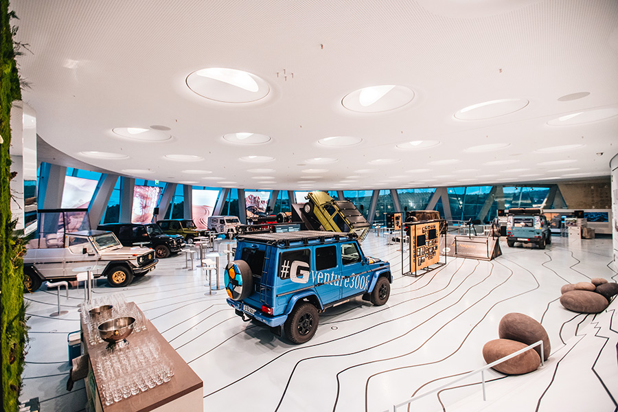 Übersicht Mercedes-Benz Museum