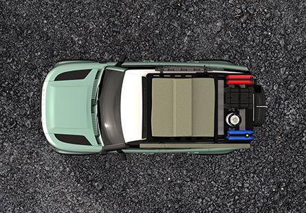 Viel Platz auf dem neuen Dachträger für den Land Rover Defender