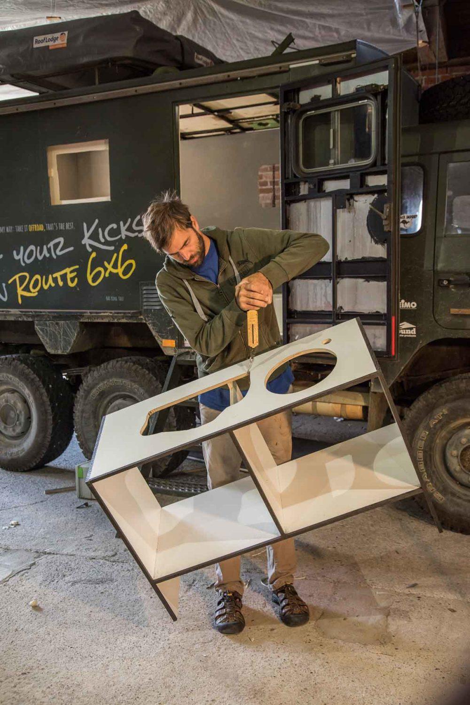 Reisemobil Möbelbau Gewicht