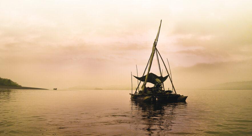 Das Floss auf See